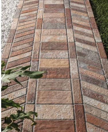 Brick Floor Tile Collection Creates A, Outdoor Brick Floor Tiles